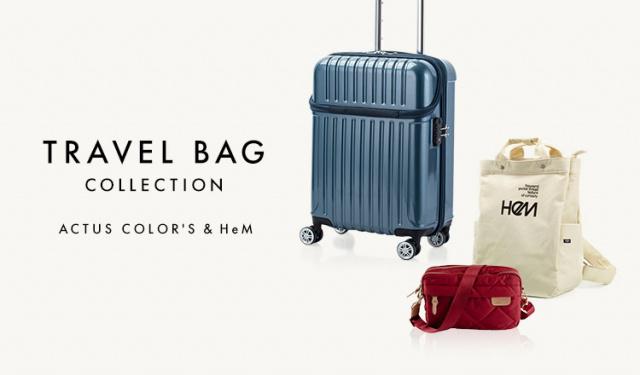 TRAVEL BAG COLLECTION -ACTUS COLOR'S & HeM-