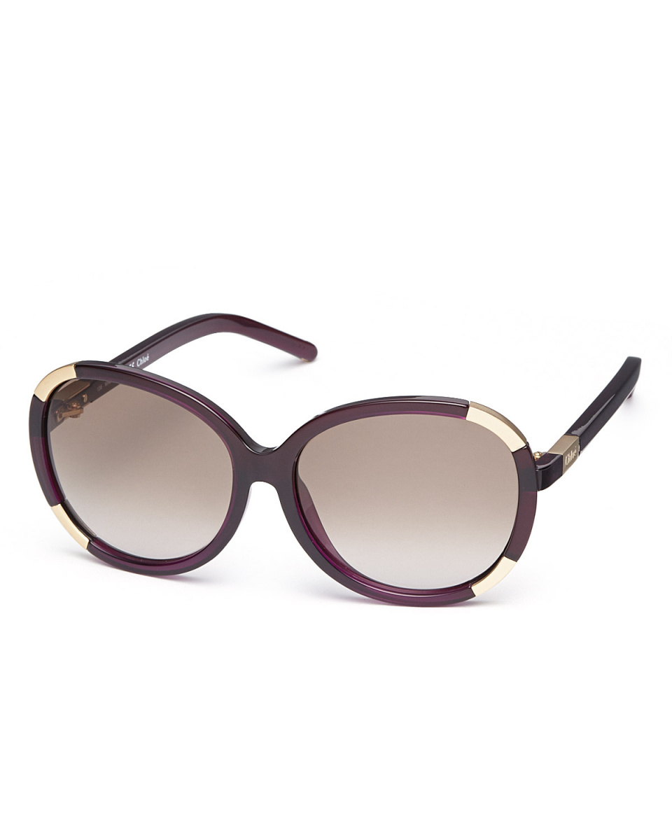 Chloe / Clear Purple \nround cell sunglasses
