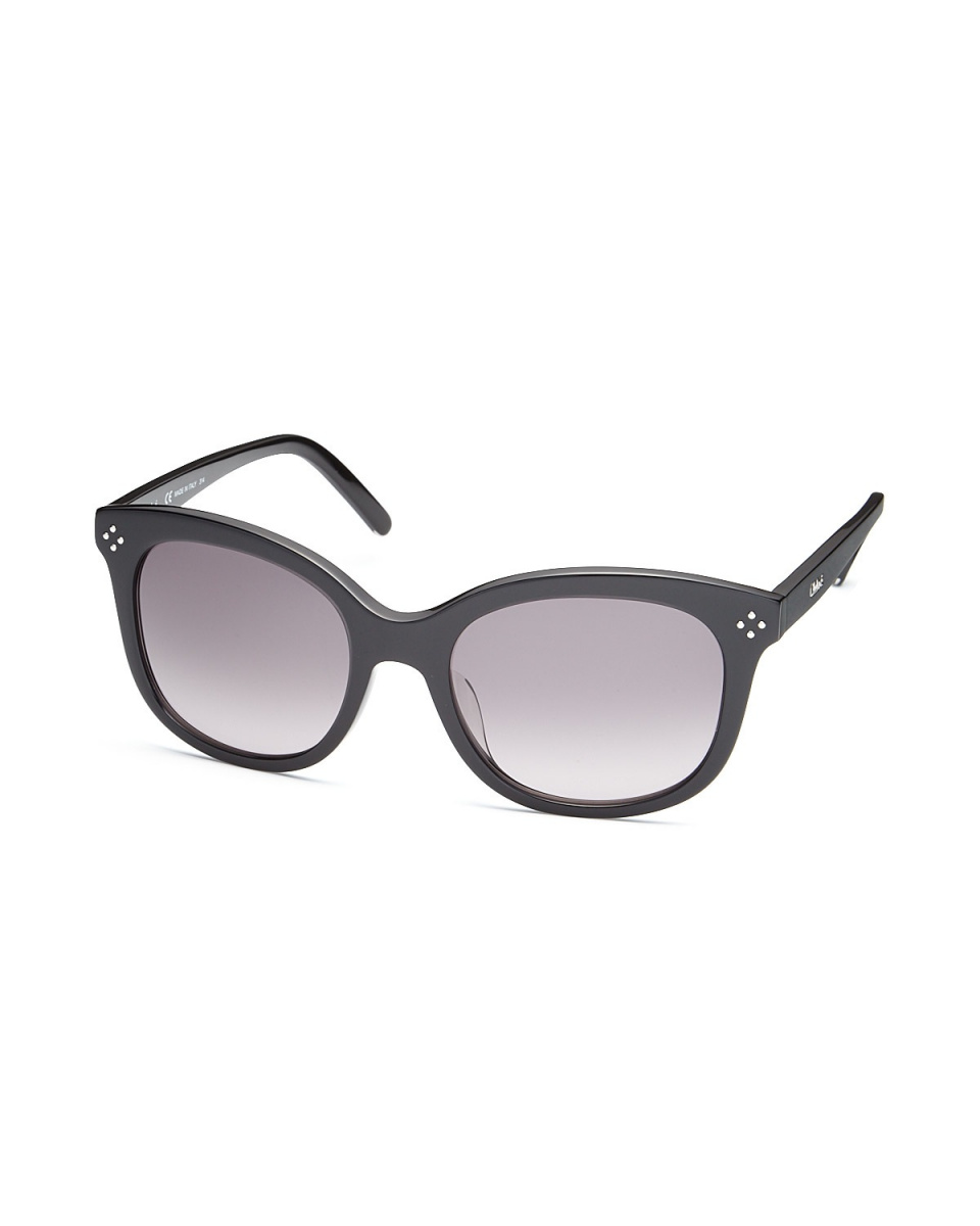 Chloe / black mini-studded sunglasses