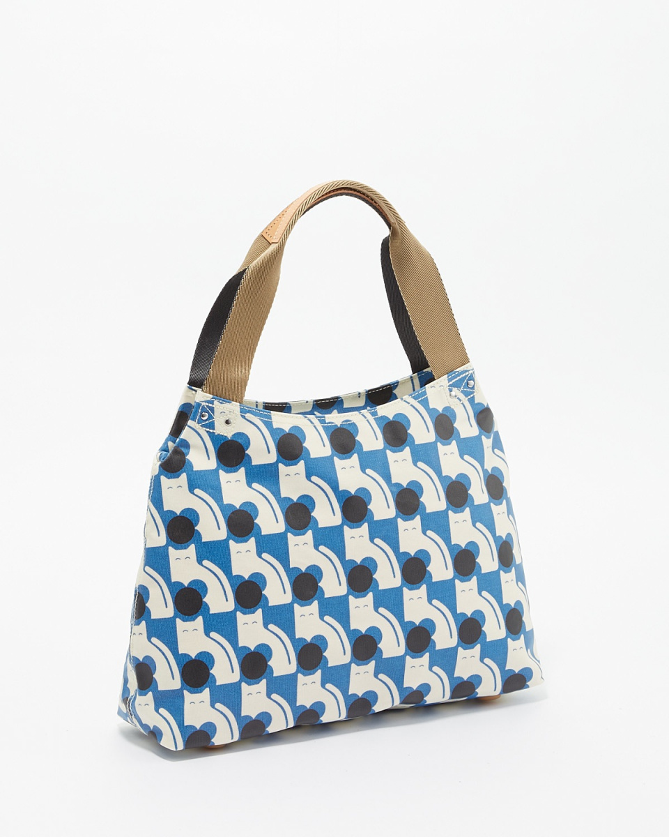 ORLA KIELY / POWDER BLUE Poppy Cat print classic zip shoulder bag