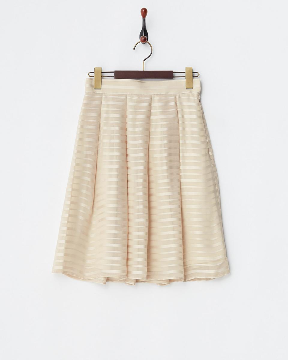 第二個場合人/米色邊框\n雪紡喇叭裙○61-1893 /女裝