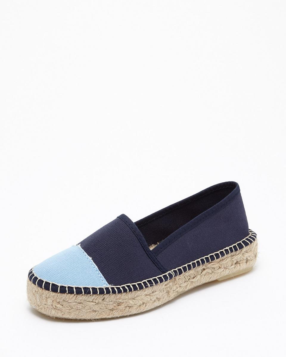 Callipigia /海軍×淺藍色帆布帆布便鞋