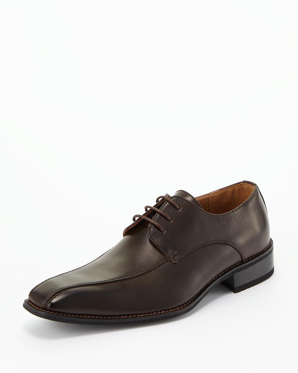 MM / ONE /深褐色外翼渦流摩卡鞋/男