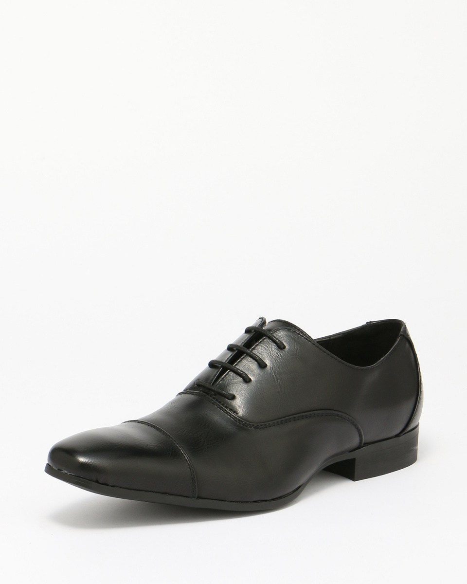 MM / ONE / black in the wings lace-up shoes / Men's