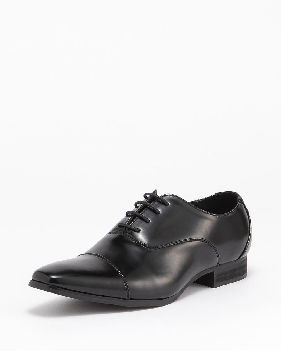 MM / ONE /黑色的翅膀直尖鞋/男