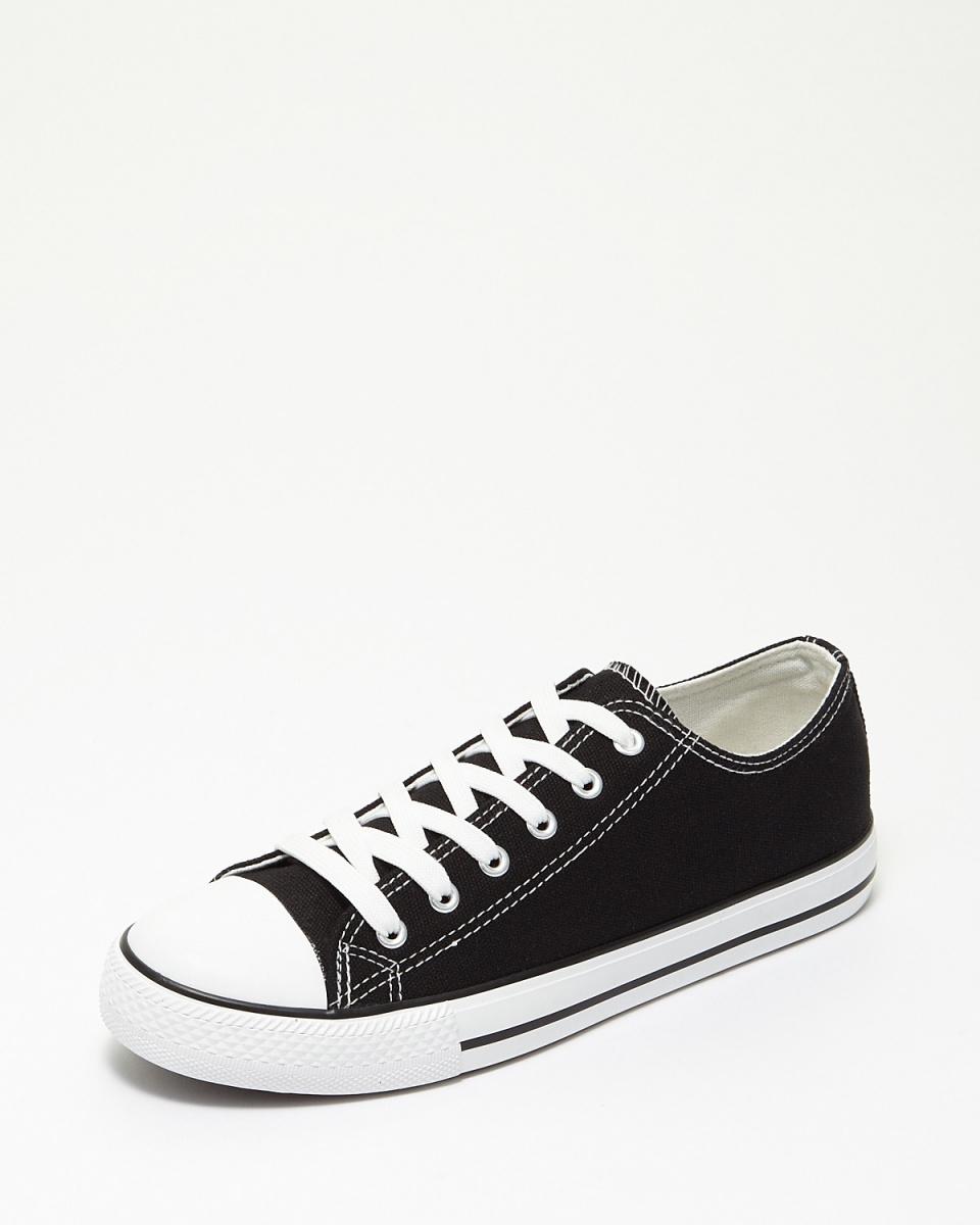 SVEC-L /黑色低胸帆布鞋○SPS028-1 /中性