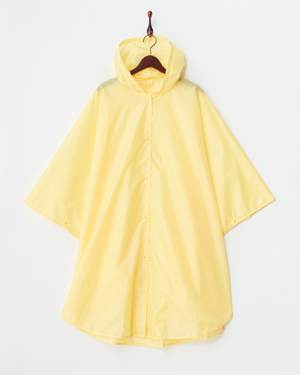 Bronze / yellow water-repellent rain poncho | WOMEN