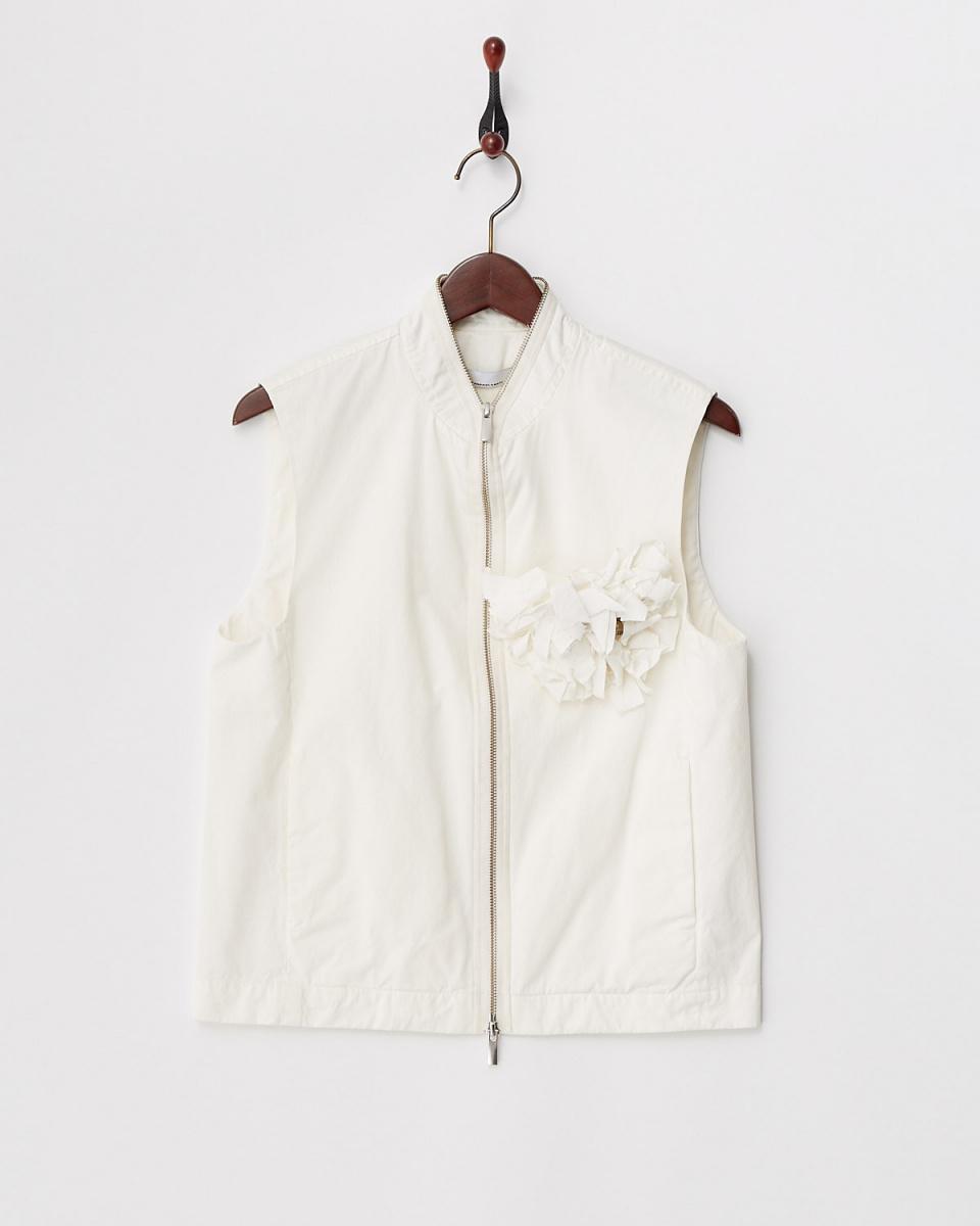 JEANPAULKNOTT / white corsage with ZIP Best ○ 29076107602 / Women's