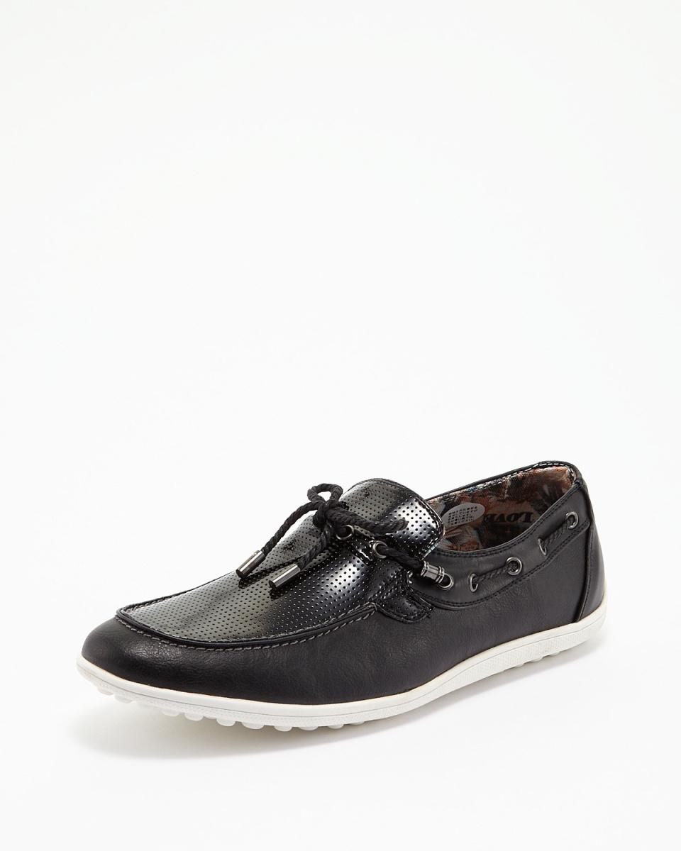 抹布时间/黑驱动鞋○1652 /男装