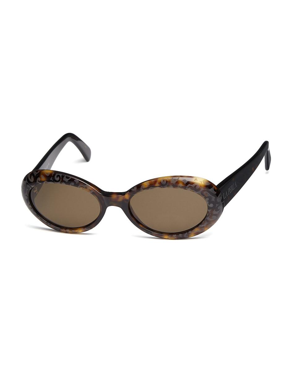 La Perla酒店/清除布朗輪輞設計橢圓形眼鏡