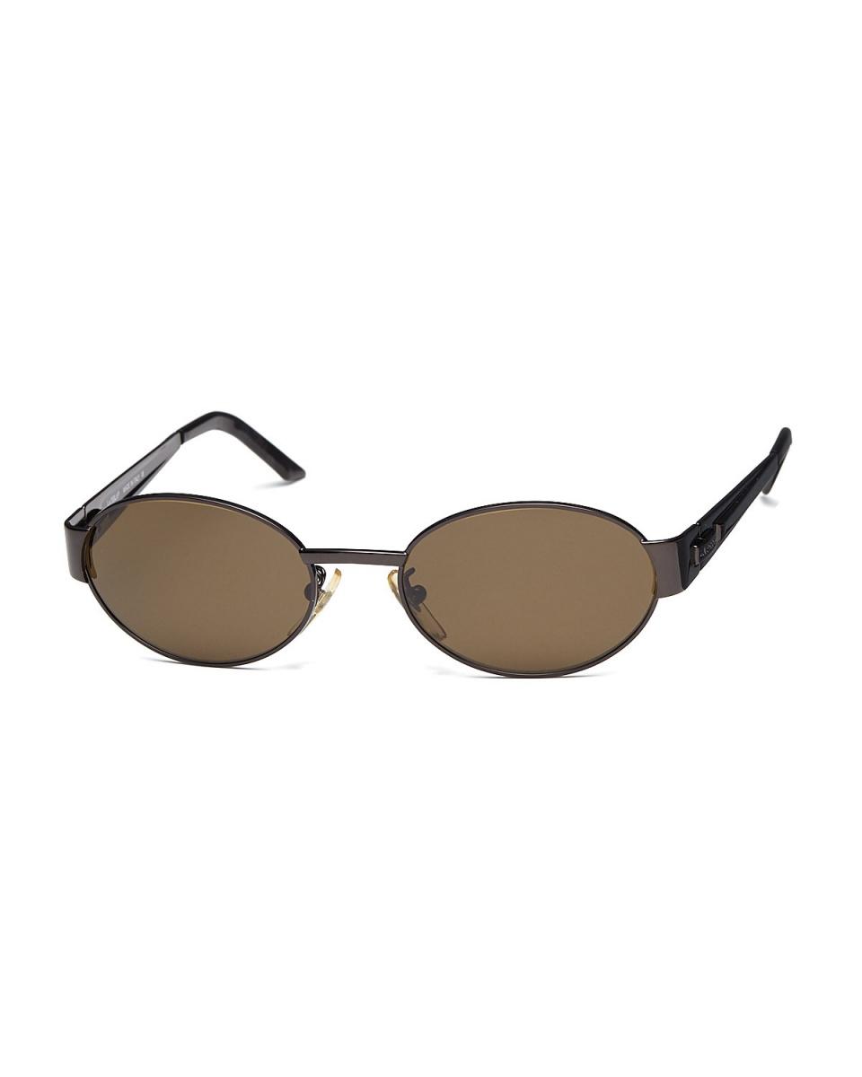 拉佩拉/金屬棕色標誌金屬橢圓形眼鏡