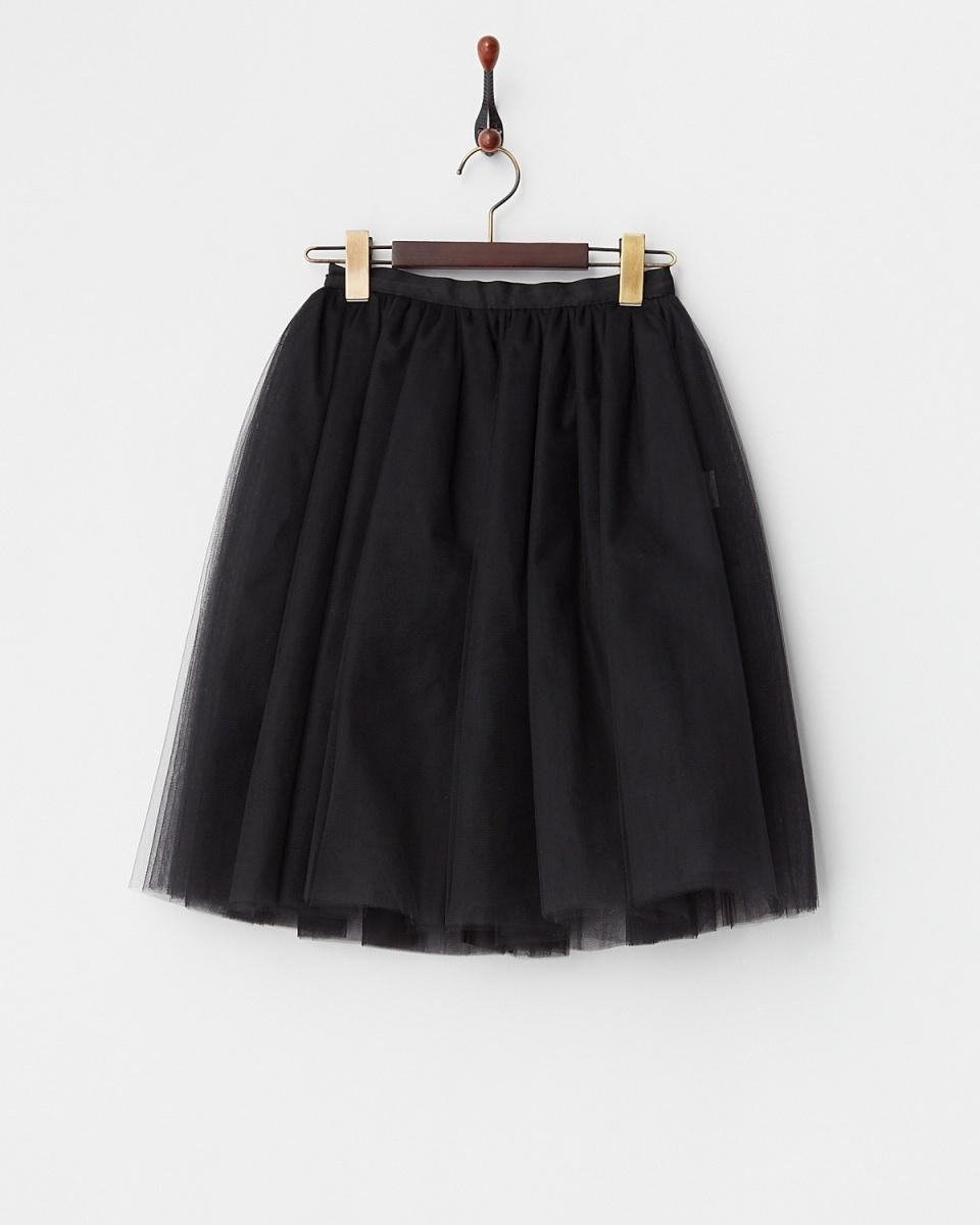CHARLES阿納斯塔斯/ BLACK西羅緞薄紗裙○TULLE01T /女裝
