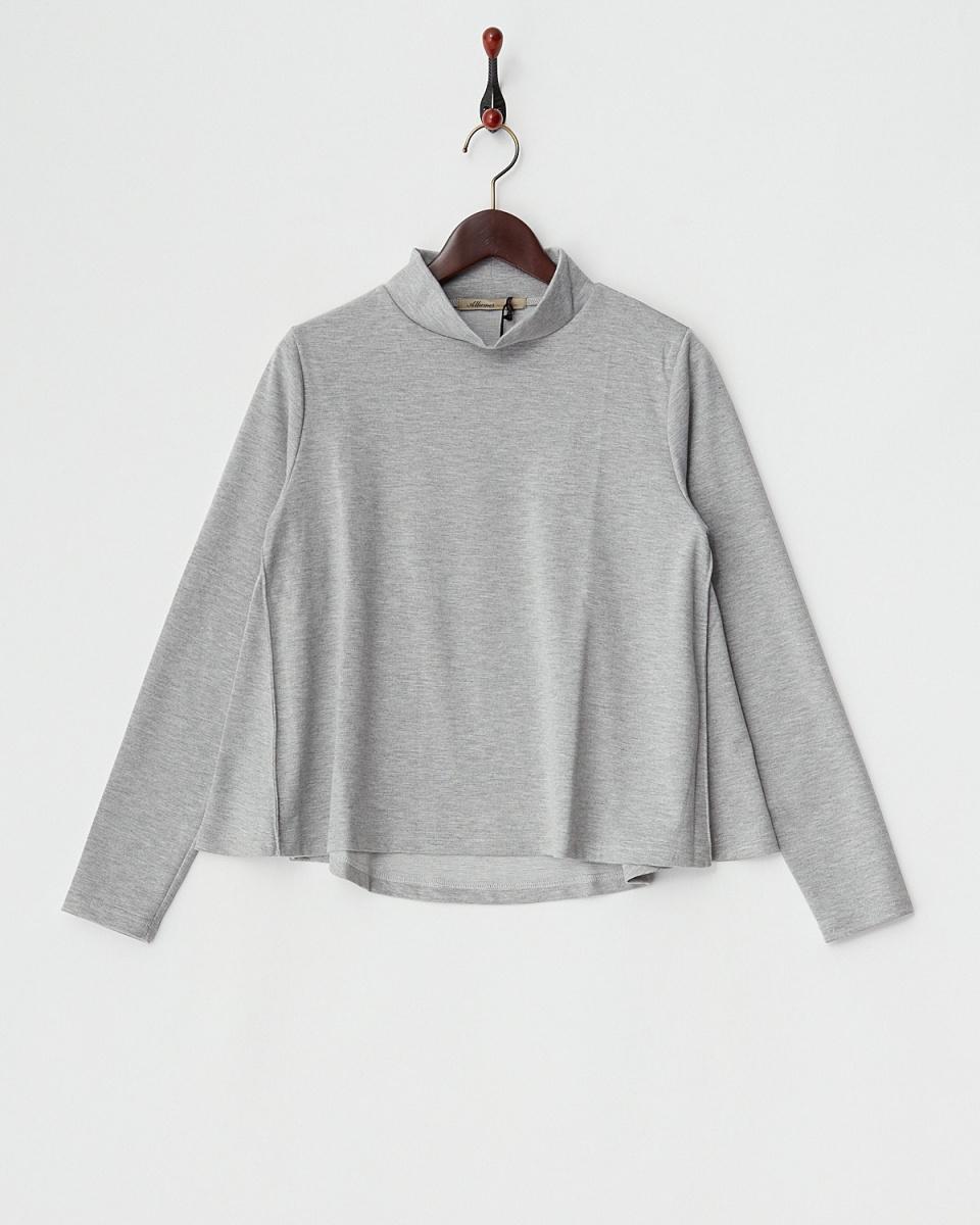 ALLUMER /灰色高领上衣耀斑○8141750 /女装