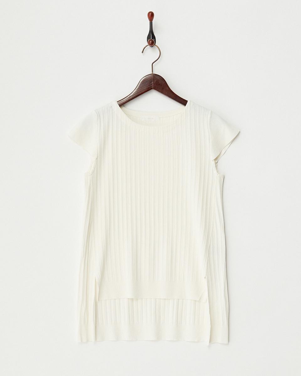 MIIA /灰白色步下擺縫針織/女裝
