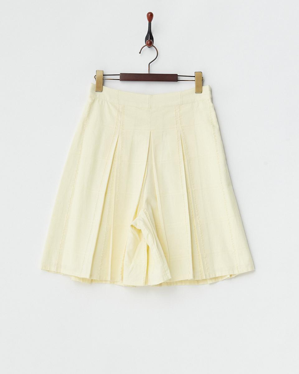 MIIA / yellow gingham check cotton Scar Jo / Women's