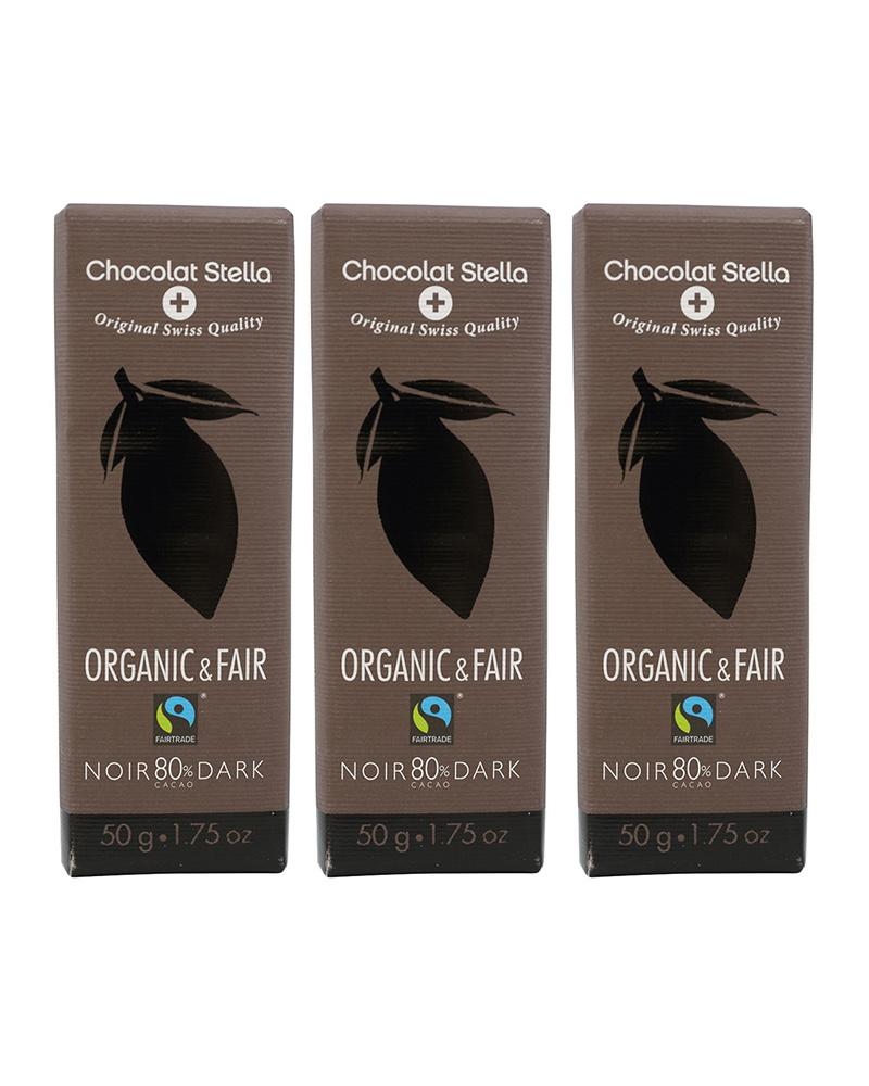 Stella Bernrain / オーガニック ダークチョコレート カカオ80% 3枚セット○7610202308564×3
