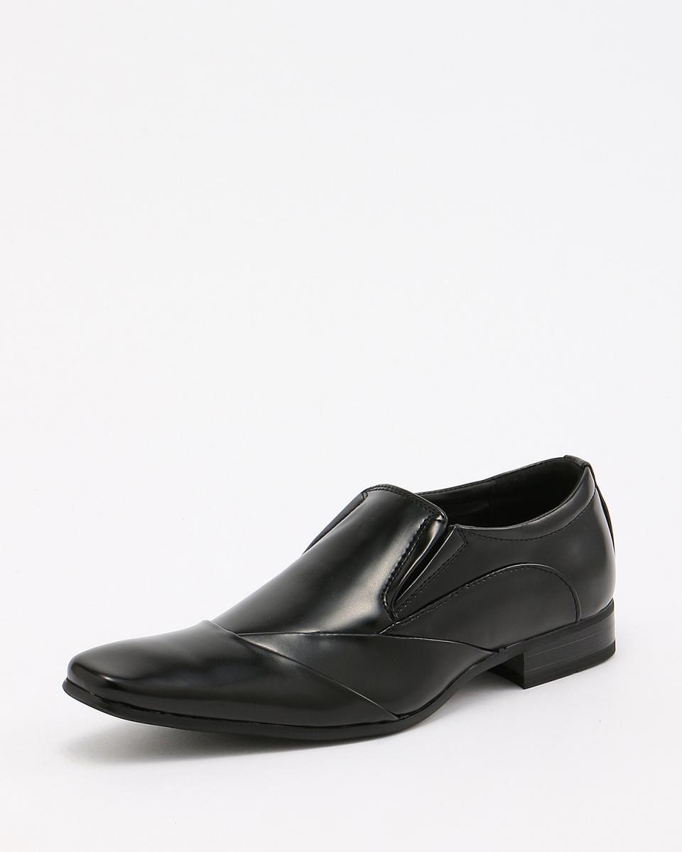 MM / ONE / black switching Saidogoa Square Toe Shoes / Men's
