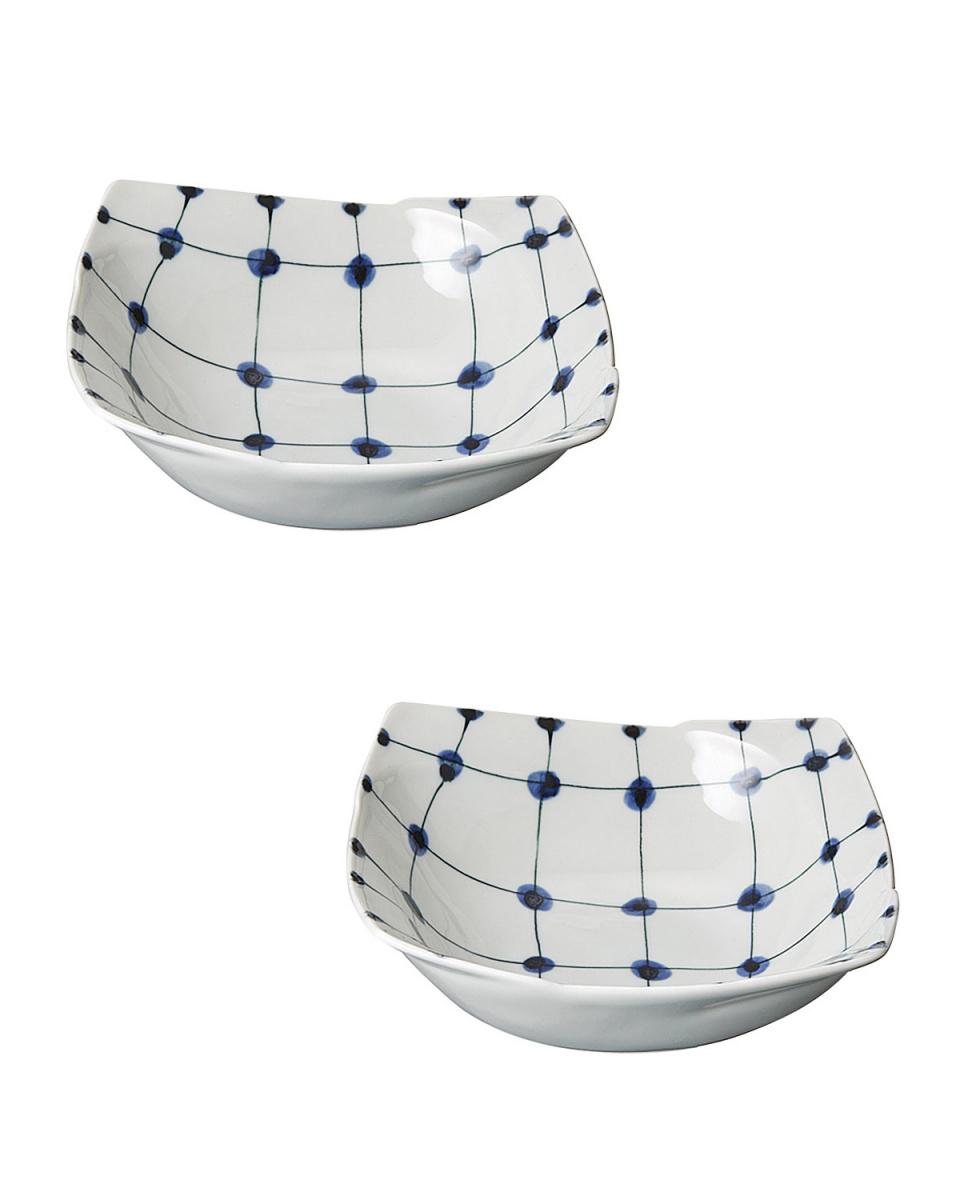 JAPANESE TABLEWARE / 点格子 組小鉢○4965089862153