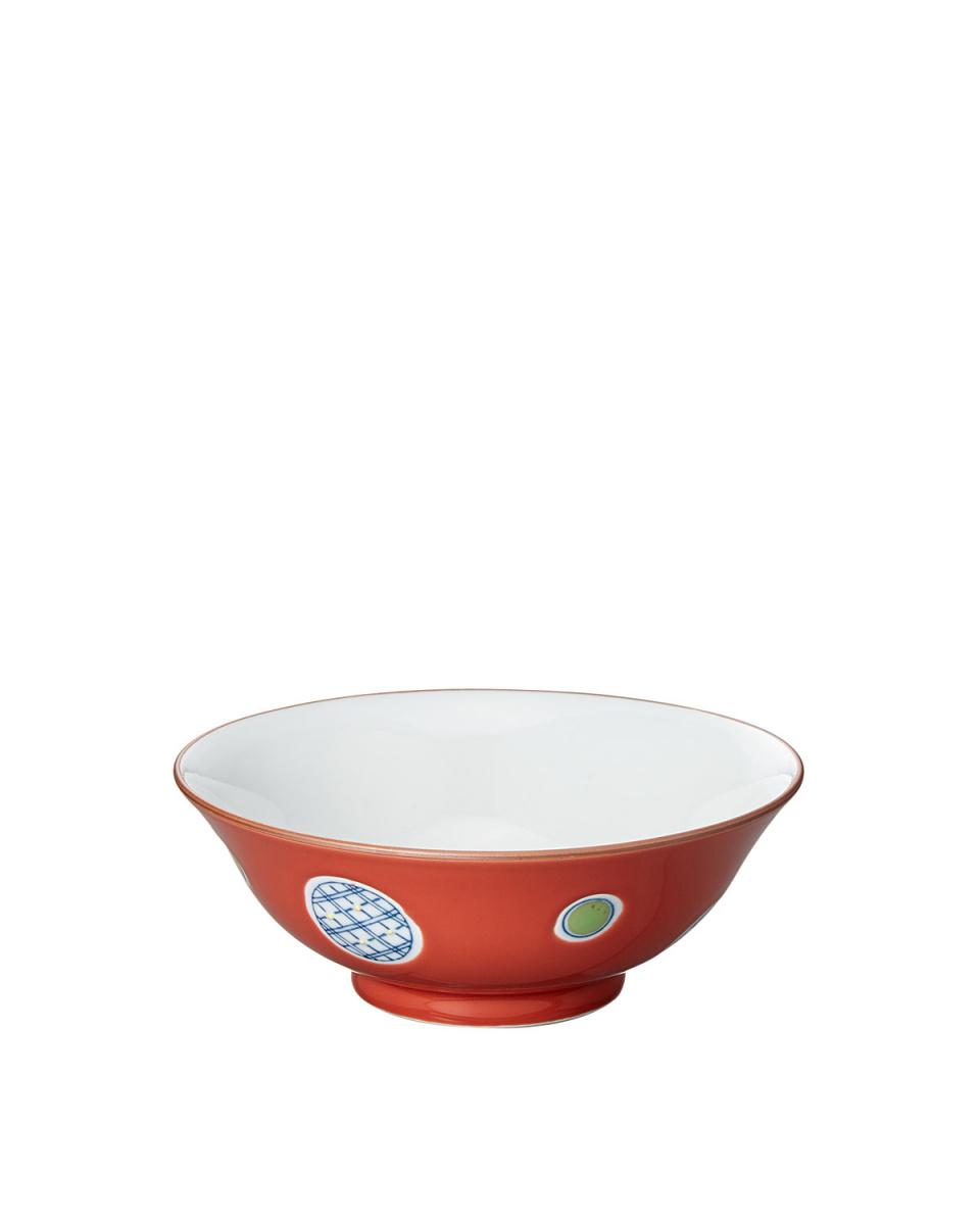 日式餐具/红色釉丸波峰日本Menhachi○4965089348466