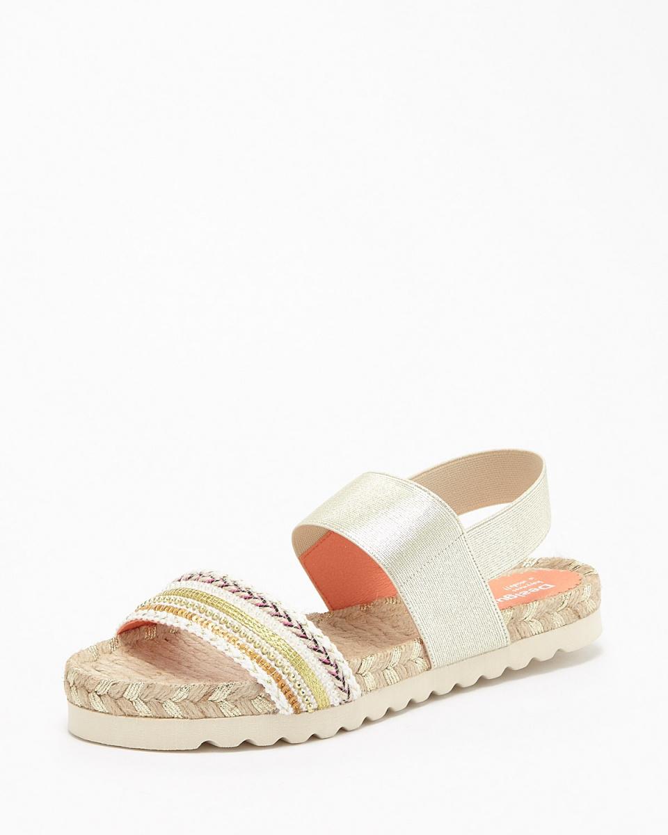 b36005d1b60326 Desigual   gold color Formentera Bling Bling sandals   Women s ...