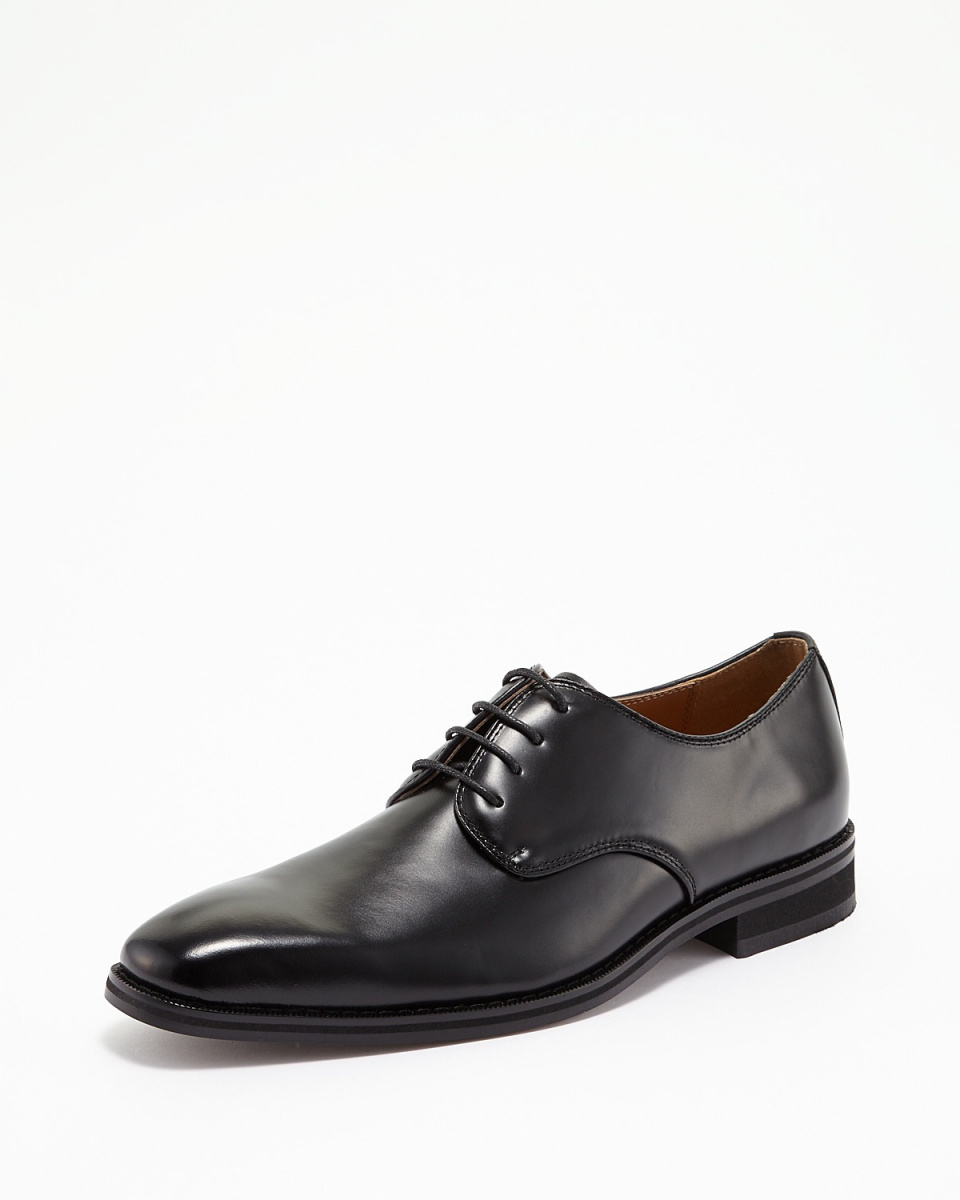 Lorenzo Commy / black plain-to-business shoes ○ 2057 / Men's