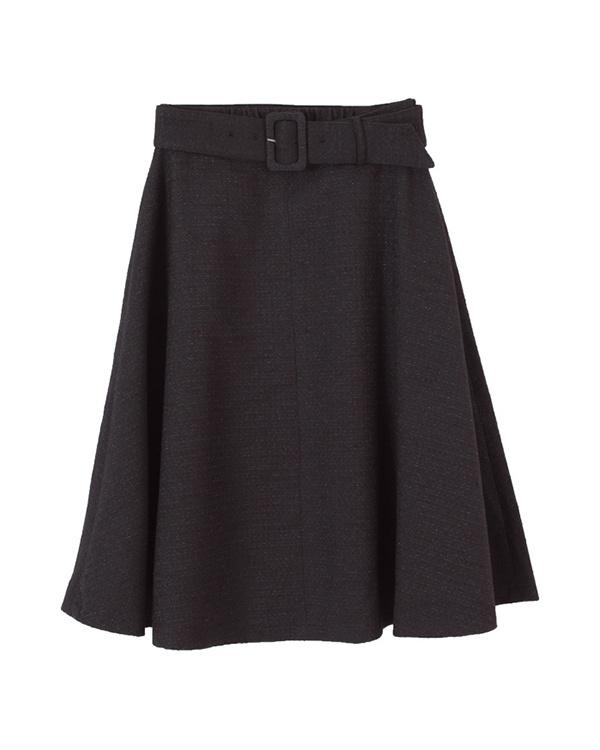 AMBINET / ブラックツイードフレアスカート○CPKA0078 / ウィメンズ