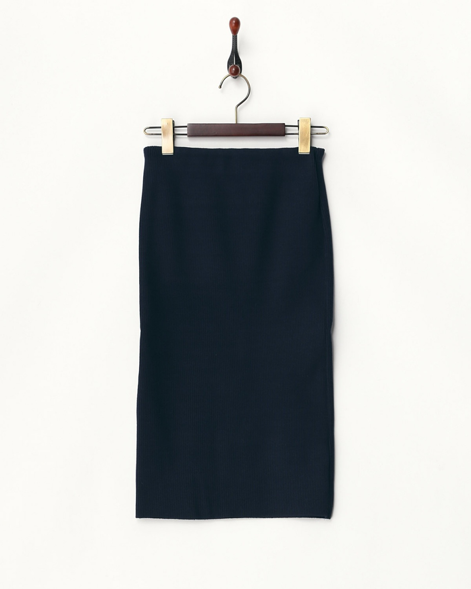AMBINET / navy rib tight skirt ○ CPVA0062 / Women's