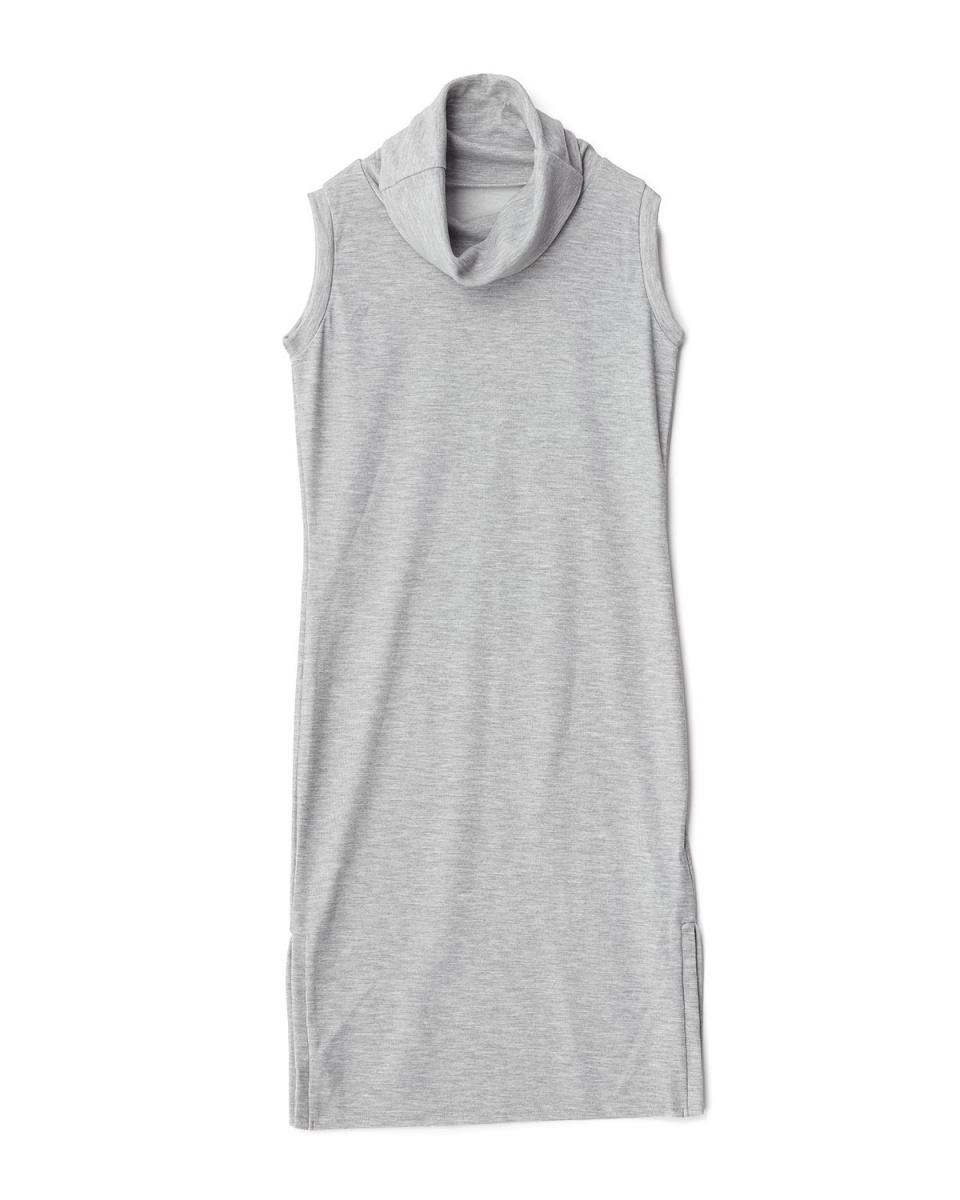 ROYALPARTY /灰色高领连衣裙缝○72637321 /女子