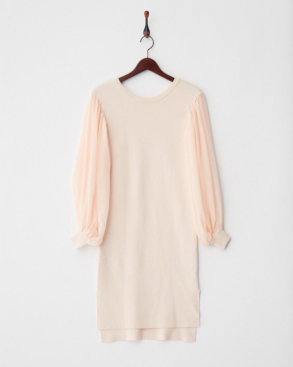DRWCYS / pink chiffon switching dress ○ 71172005 / Women's