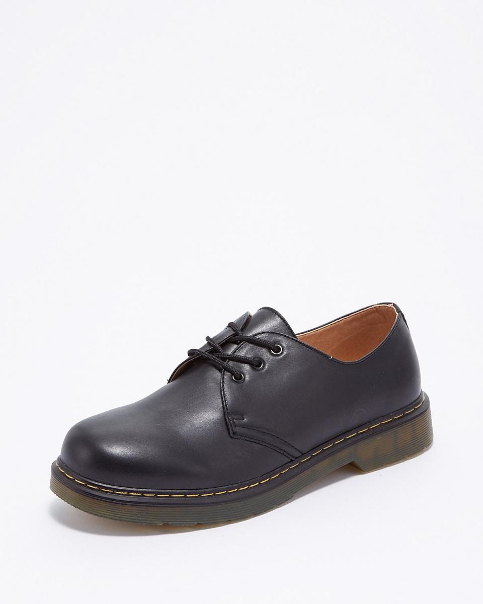 斯威克-L /黑色的系帶休閒鞋○SPT910-1 /中性