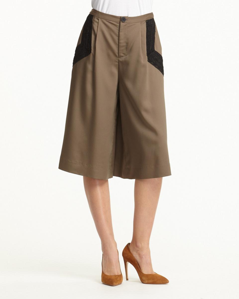 Clean2 /米色袋口種族寬褲○651016 /女裝