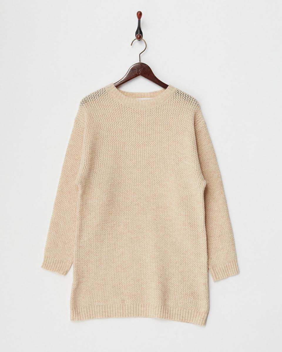 人类第二场合/米色的低规格上衣针织○73-1041 /女装