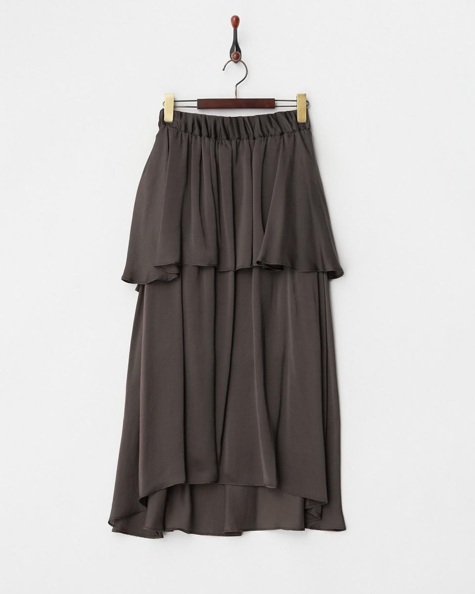 露西珍珠/布朗分层长裙/女装
