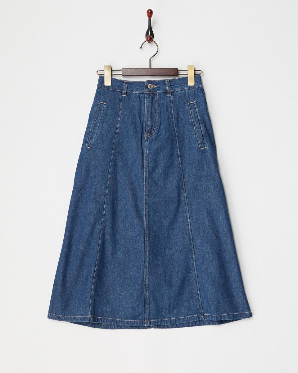 Lucy Pearl / blue denim skirt / Women's