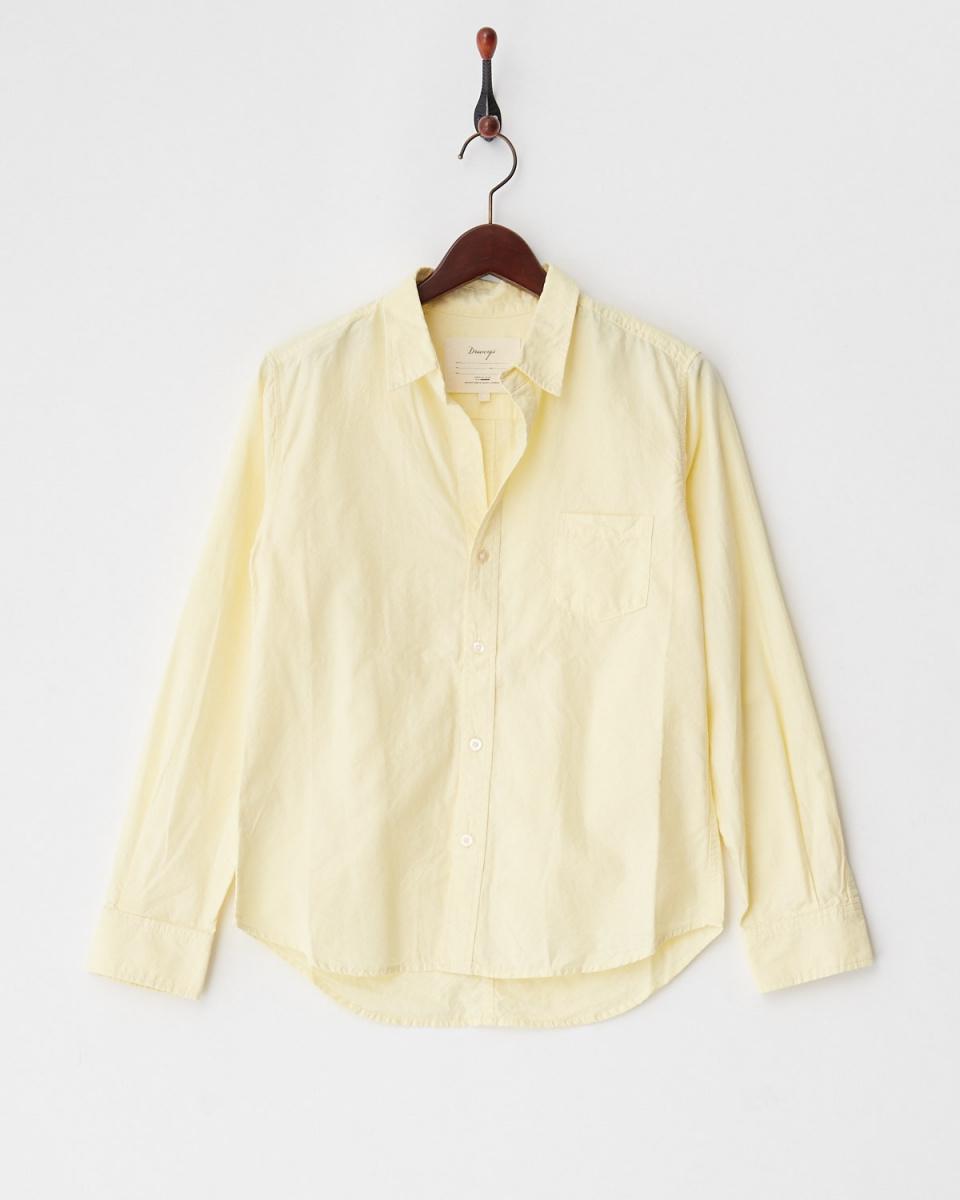 DRWCYS / yellow basic Ox shirt ○ 71181003 / Women's