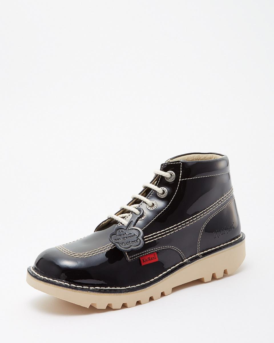 踢球者/黑RALLYE鞋带靴(珐琅质)
