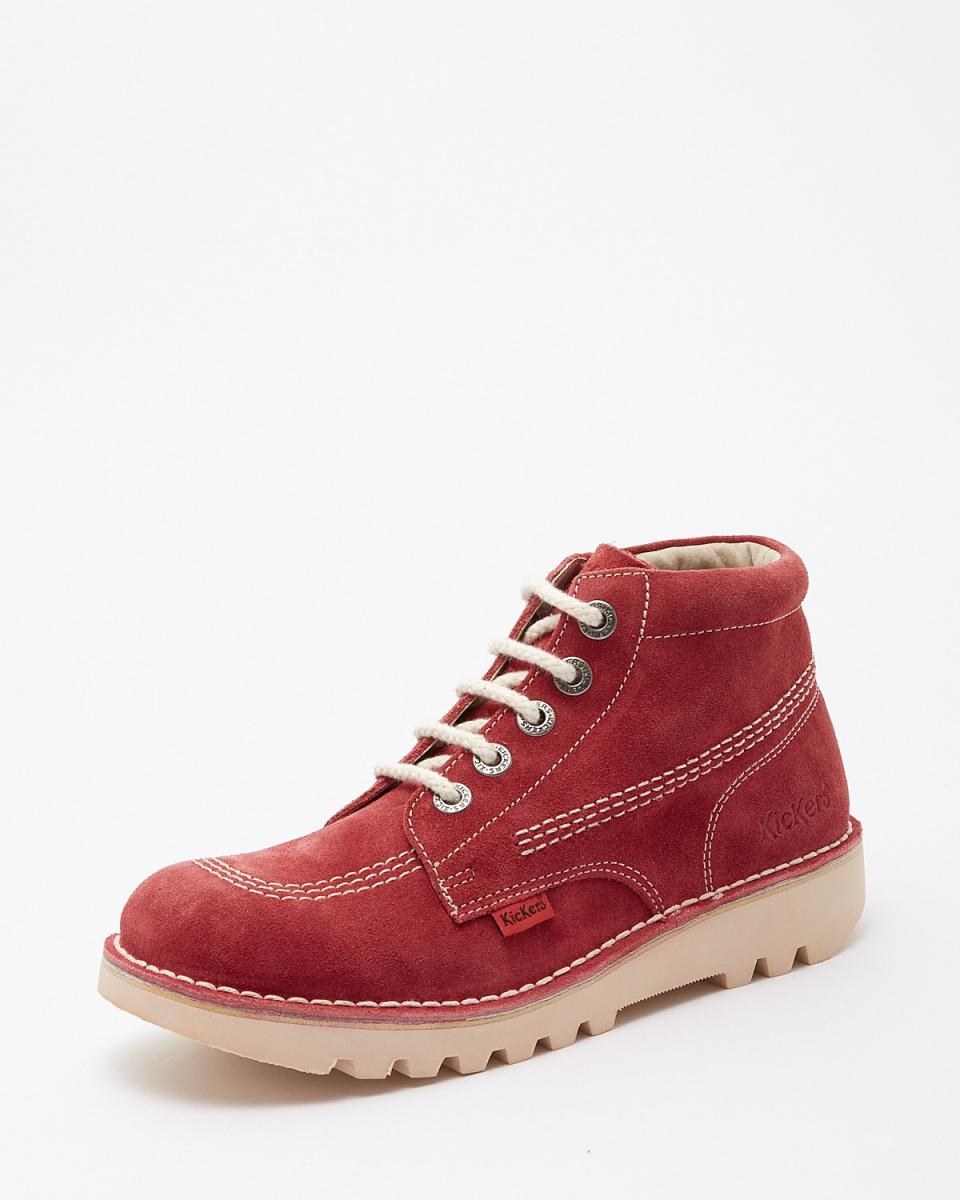 踢球者/紅RALLYE鞋帶靴(麂皮)