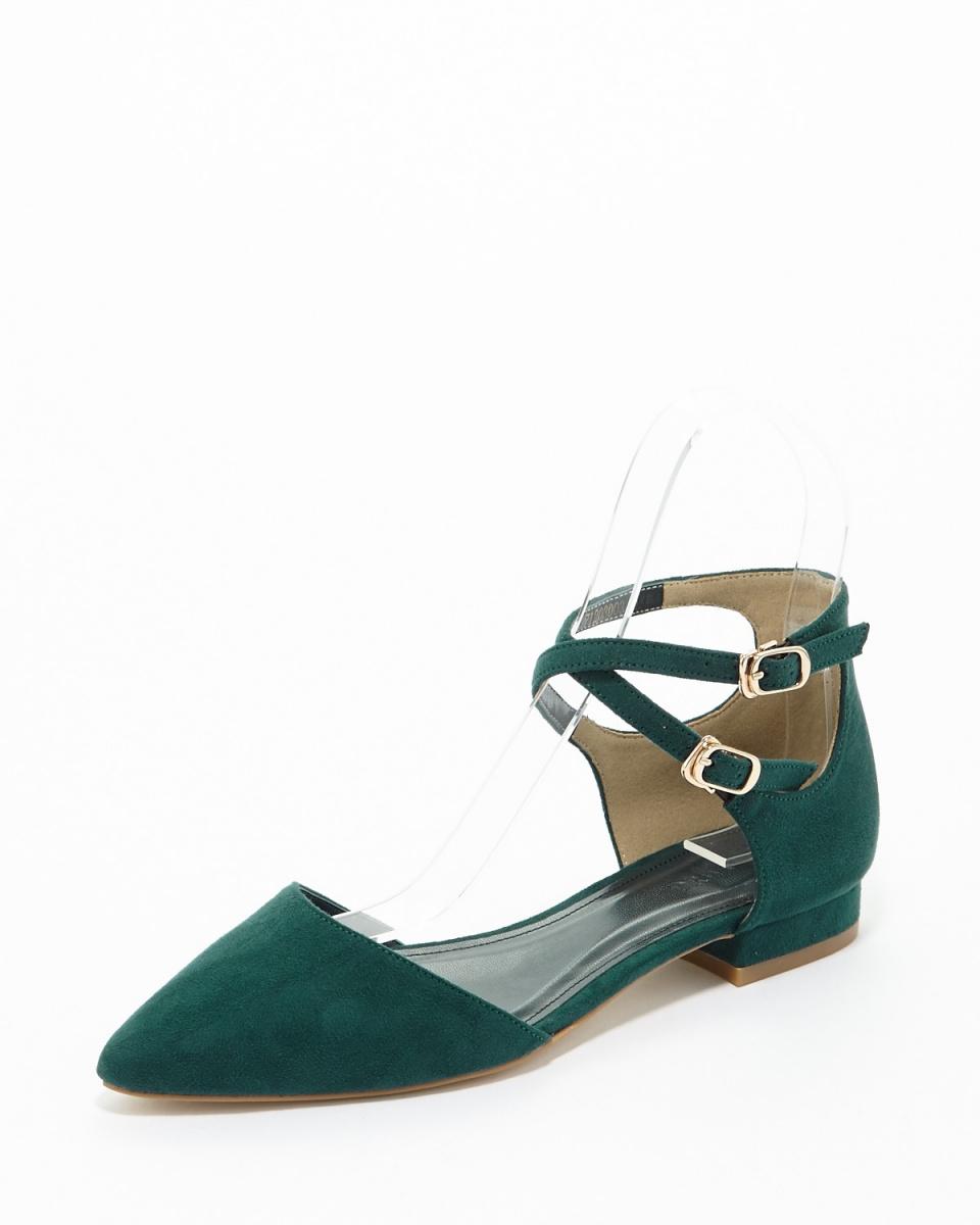 DRWCYS / green ankle strap heel pumps ○ 71203003 / Women's