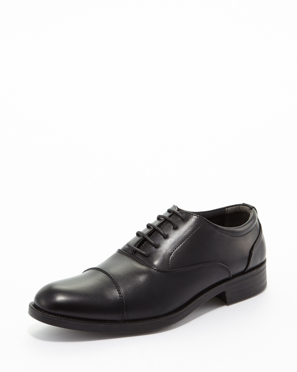 FRONT PAGE / Black Faux Leather straight chip business shoes ○ 803 / Men's