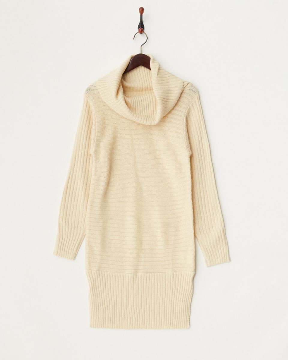 Roomy's / beige sideways knitting off Turtle knit 2 ○ 52840083 ○ 52840083 / Women's