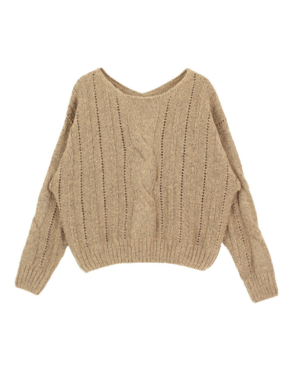 titivate / beige before and after 2way cable knit ○ AQXP1607 / Women's