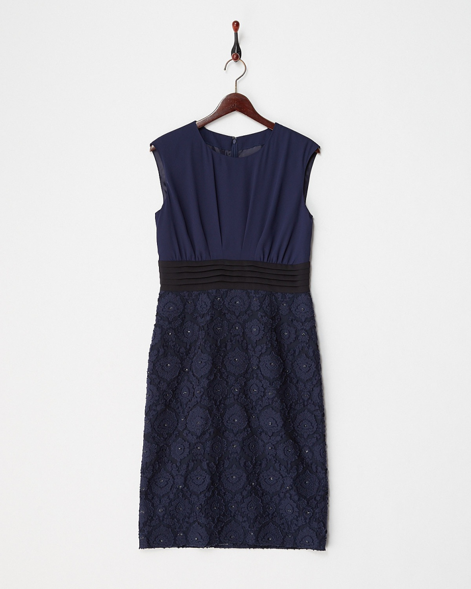 Ripurito / Navy SK part Jaguar switching dress