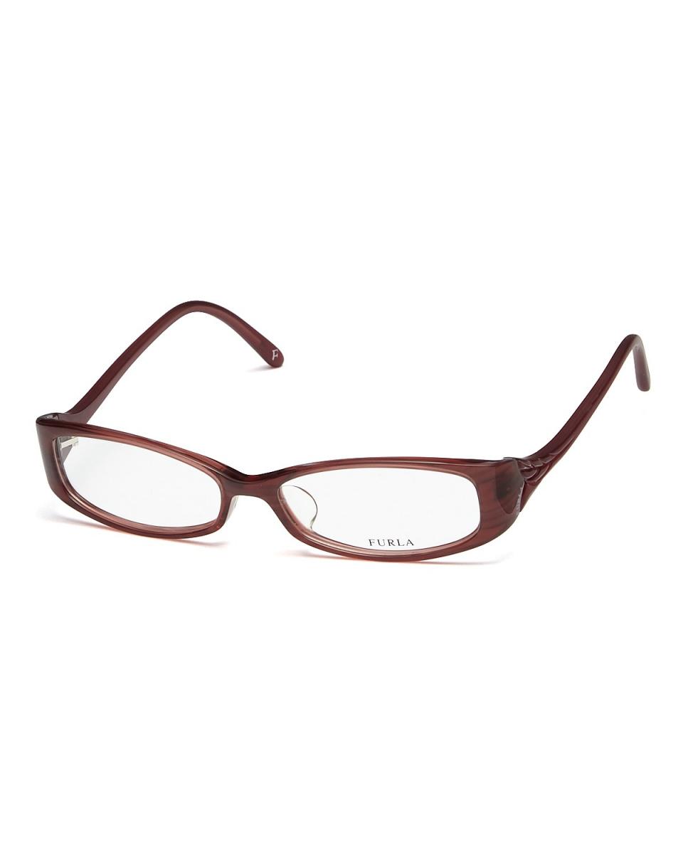 FURLA / Brown Design Temple Oval eyewear ○ 4731j