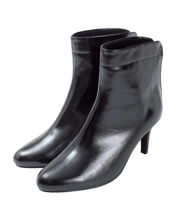再找補一下/黑背拉鍊短靴○AQXP1627 /女裝