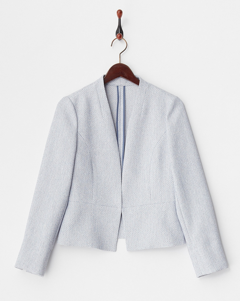 White Joe La / Blue scraper tweed jacket
