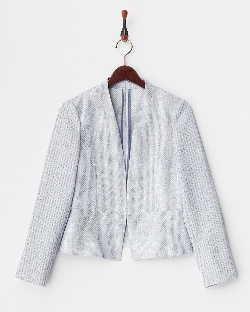 白乔LA /蓝刮刀斜纹软呢外套