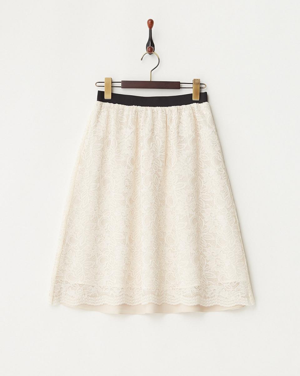 白喬LA /米色裙子可逆