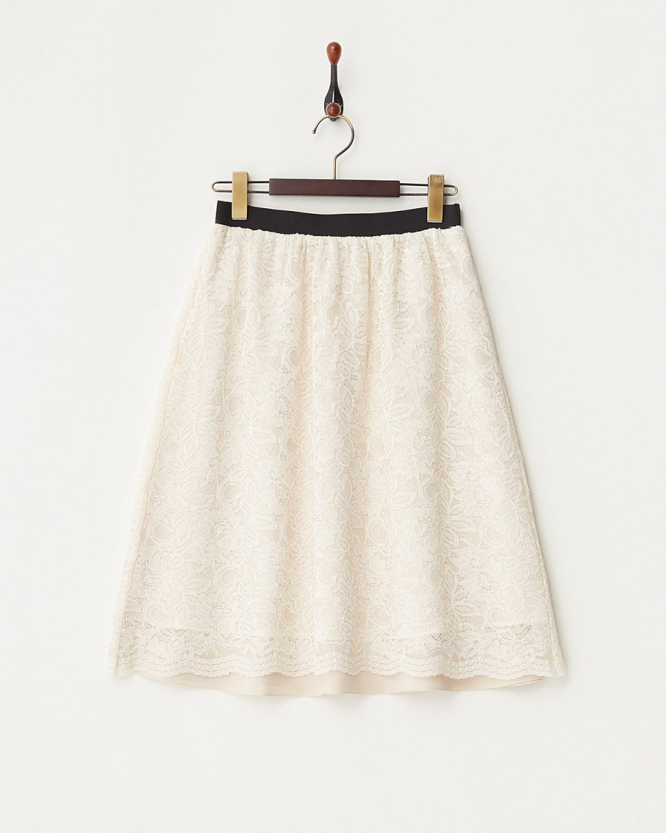 White Joe La / beige reversible skirt