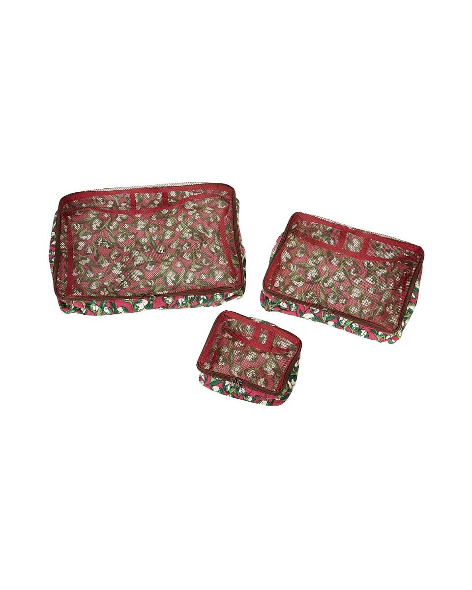 michael miller / Coral Bell pouch 3-piece set ○ 717106830-032