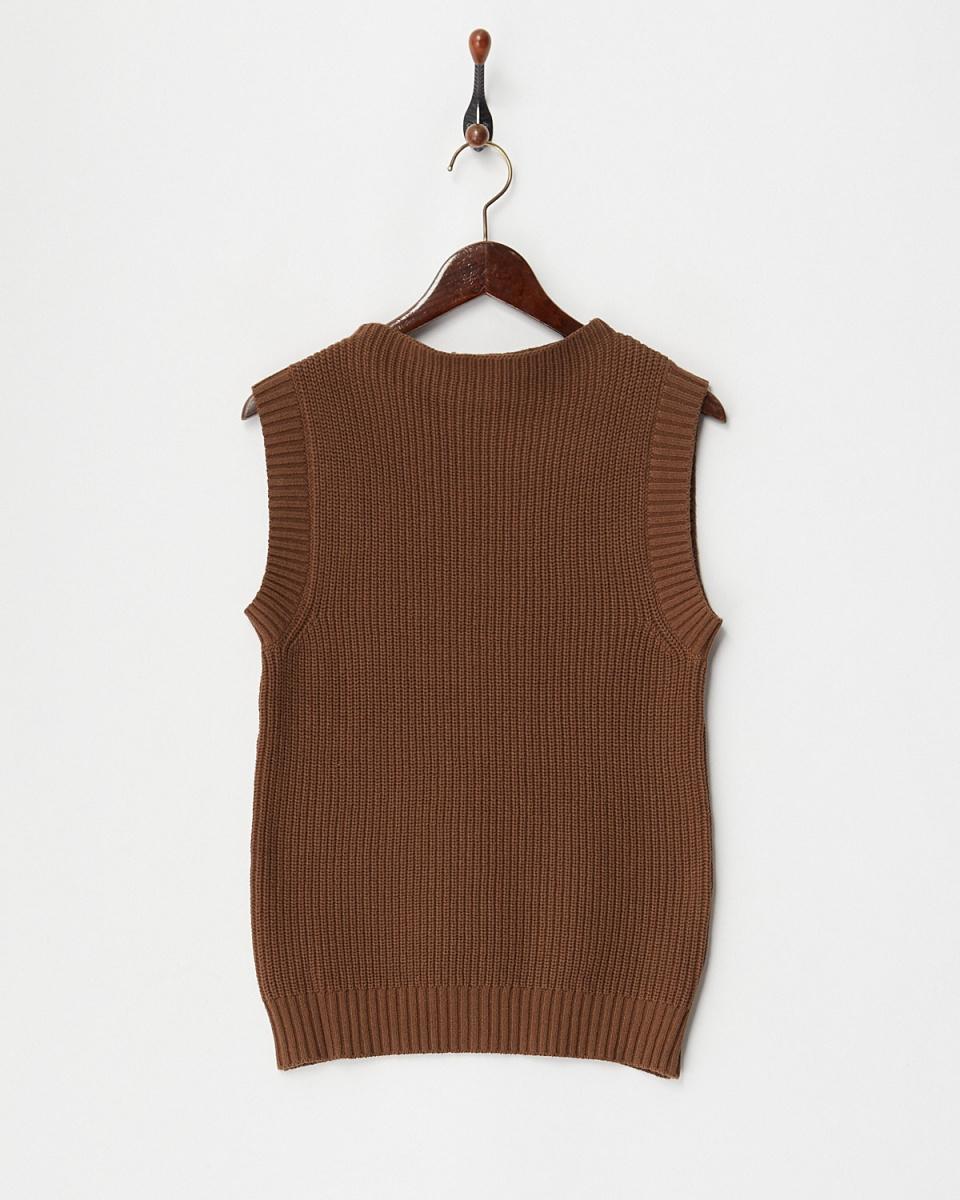 DRWCYS / Brown Azeami Nosuri knit tops ○ 73170003 / Women's